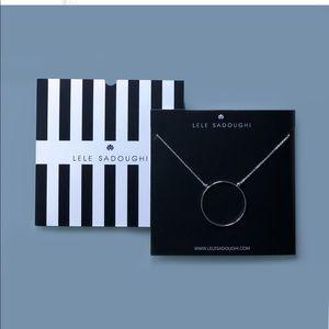LELE Sadoughi Silver Circle Necklace- NWT